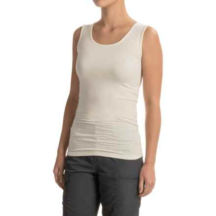 Terramar ClimaSense® Kashmir Tank Top - UPF 25+ (For Women) in Cream - Closeouts