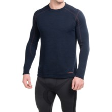 Terramar ClimaSense® Thermawool Crew Base Layer Top - UPF 50+, Long Sleeve (For Men) in Imperial Blue Heather - Closeouts