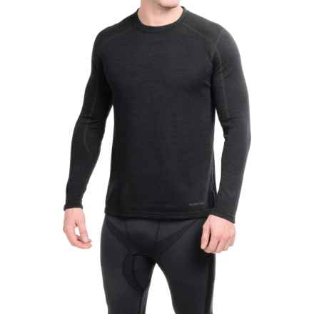 Terramar ClimaSense® Thermawool Crew Base Layer Top - UPF 50+, Long Sleeve (For Men) in Smoke Heather - Closeouts