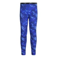 Terramar Climasense Thermolator CS 2.0 Base Layer Bottoms - UPF 25+ (For Little and Big Kids) in Blue Camo - Closeouts