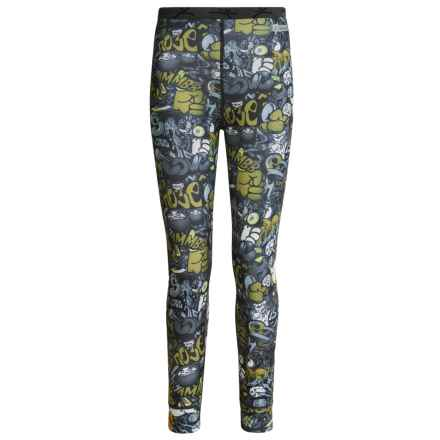 Terramar ClimaSense® Thermolator CS 2.0 Base Layer Bottoms - UPF 25+ (For Little and Big Kids) in Graffiti Print - Closeouts