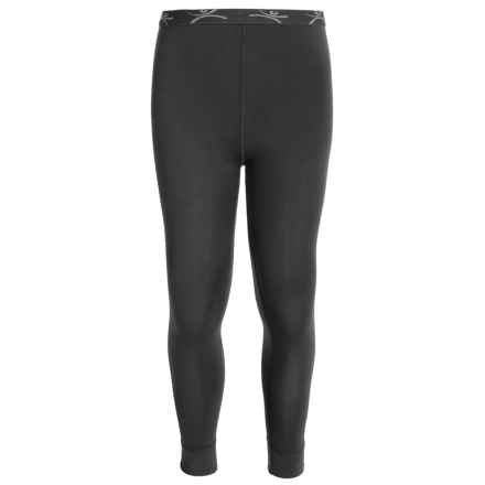 Terramar ClimaSense® Thermolator CS 2.0 Base Layer Pants - UPF 25+ (For Little and Big Kids) in Black - Closeouts