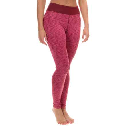 Terramar ClimaSense® Tri-Color Base Layer Bottoms - UPF 50+ (For Women) in Merlot - Closeouts