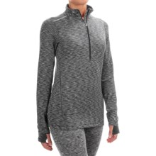Terramar ClimaSense® Tri-Color Base Layer Top - UPF 50+, Zip Neck, Long Sleeve (For Women) in Black - Closeouts