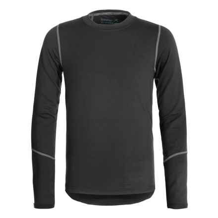 Terramar ClimaSensThermolator CS 2.0 Base Layer Top - UPF 25+, Long Sleeve (For Little and Big Kids) in Black - Closeouts