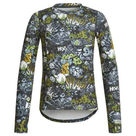 Terramar ClimaSensThermolator CS 2.0 Base Layer Top - UPF 25+, Long Sleeve (For Little and Big Kids) in Graffiti Print - Closeouts