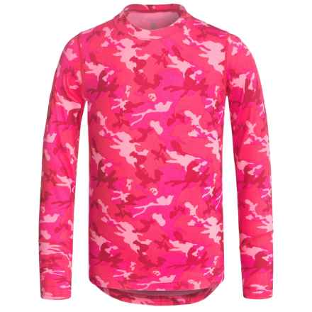 Terramar ClimaSensThermolator CS 2.0 Base Layer Top - UPF 25+, Long Sleeve (For Little and Big Kids) in Pink Camo - Closeouts
