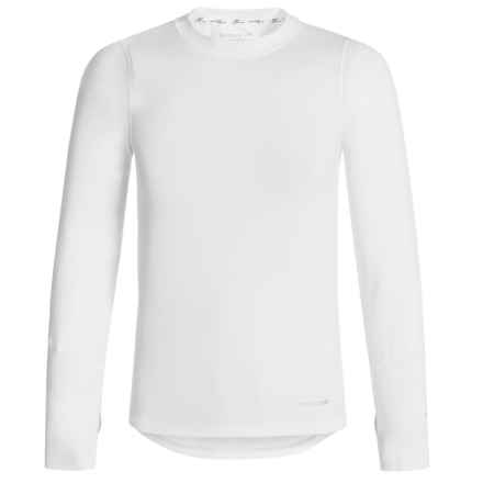 Terramar ClimaSensThermolator CS 2.0 Base Layer Top - UPF 25+, Long Sleeve (For Little and Big Kids) in White - Closeouts