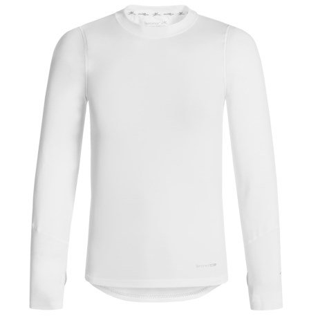 Terramar ClimaSensThermolator CS 2.0 Base Layer Top - UPF 25+, Long Sleeve (For Little and Big Kids) in White