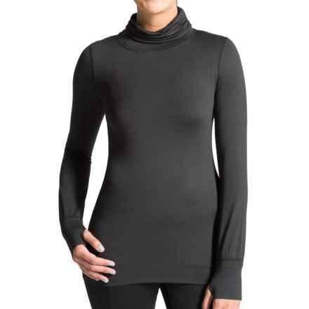 Terramar Cloud Nine Base Layer Shirred Turtleneck - UPF 25+ (For Women) in Black - Closeouts