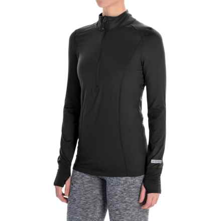 Terramar Cloud Nine Top - Midweight, Zip Neck, Long Sleeve (For Women) in Black - Closeouts