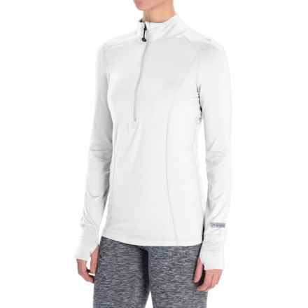 Terramar Cloud Nine Top - Midweight, Zip Neck, Long Sleeve (For Women) in White - Closeouts