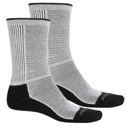 Terramar Cool-Dry Pro Hiking Socks - 2-Pack, Crew (For Men and Women) in Black - Closeouts