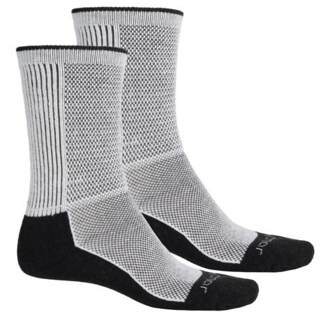 Terramar Cool-Dry Pro Hiking Socks - 2-Pack, Crew (For Men) in Black