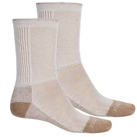 Terramar Cool-Dry Pro Hiking Socks - 2-Pack, Crew (For Men) in Khaki - Closeouts