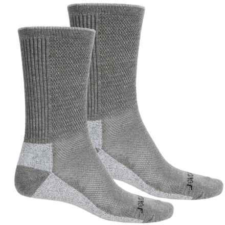 Terramar Cool-Dry Pro Hiking Socks - 2-Pack, Crew (For Men) in Light Grey - Closeouts