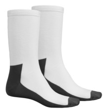 Terramar CoolMax® Liner Socks - 2-Pack (For Men and Women) in Whtie - Closeouts