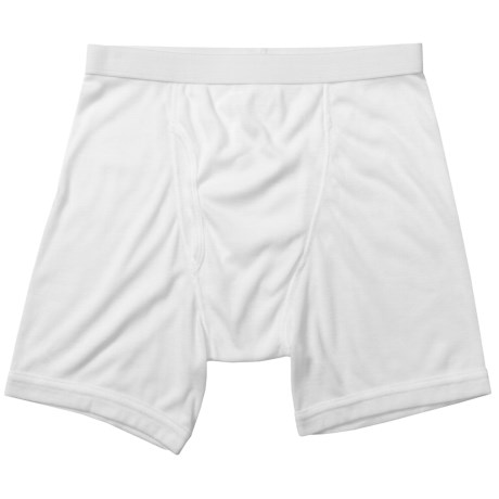 Terramar CoolMax® Ribbed Boxer Briefs (For Men) in White