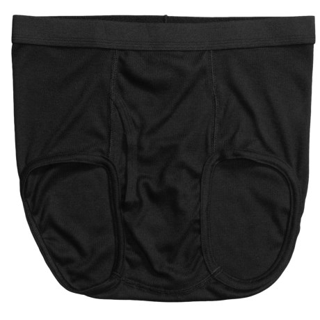 Terramar CoolMax® Ribbed Briefs (For Men) in Black