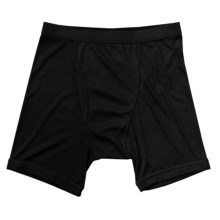 Terramar CoolMax® Ribbed Underwear - Boxer Briefs (For Men) in Black - Closeouts