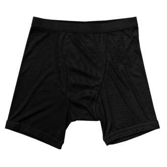 Terramar CoolMax® Ribbed Underwear - Boxer Briefs (For Men) in Black