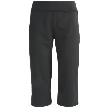 Terramar Eclipse Capris - Base Layer, Lightweight (For Women) in Black