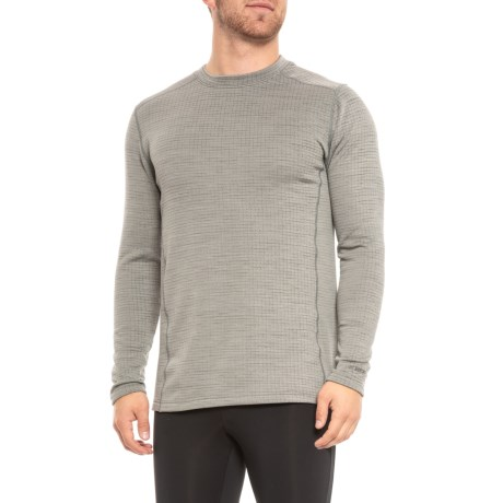 Terramar Ecolator ClimaSense® 3.0 Fleece Base Layer Top - UPF 50+, Long Sleeve (For Men) in Light Grey Heather
