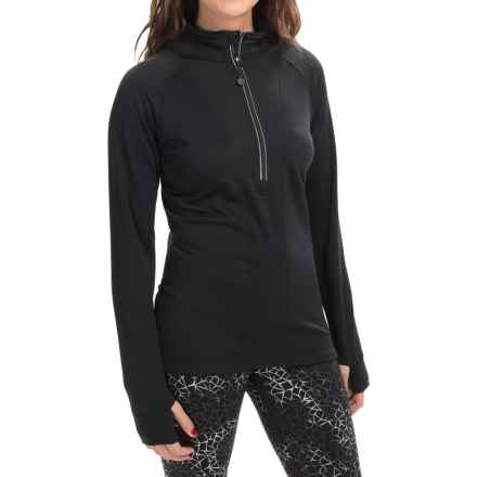 Terramar Ecolator CS 3.0 Base Layer Top - UPF 50+, Zip Neck (For Women) in Black - Closeouts