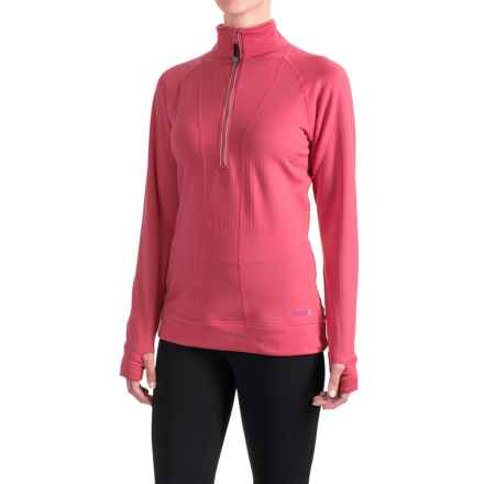 Terramar Ecolator CS 3.0 Base Layer Top - UPF 50+, Zip Neck (For Women) in Poppy - Closeouts