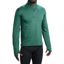 Terramar Ecolator Fleece Base Layer Top - UPF 50+, Zip Neck, Long Sleeve (For Men) in Evergreen - Closeouts