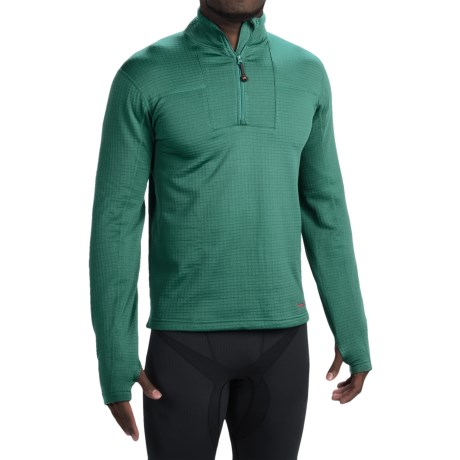 Terramar Ecolator Fleece Base Layer Top - UPF 50+, Zip Neck, Long Sleeve (For Men)