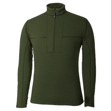 Terramar Ecolator Fleece Base Layer Top - UPF 50+, Zip Neck, Long Sleeve (For Men) in Green Giant - Closeouts