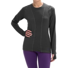 Terramar Ecolator Scoop Fleece Base Layer Top - UPF 50+, Long Sleeve (For Women) in Black - Closeouts