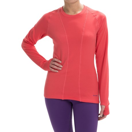 Terramar Ecolator Scoop Fleece Base Layer Top - UPF 50+, Long Sleeve (For Women) in Poppy