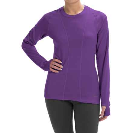 Terramar Ecolator Scoop Fleece Base Layer Top - UPF 50+, Long Sleeve (For Women) in Purple Rain - Closeouts