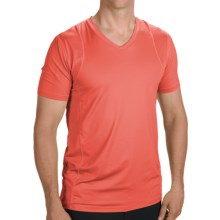 Terramar Evaporator T-Shirt - Stretch Nylon, Short Sleeve (For Men) in Bright Orange - Closeouts