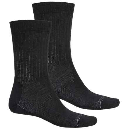 Terramar Everyday Merino Crew Socks - 2-Pack, Merino Wool (For Men) in Black - Closeouts
