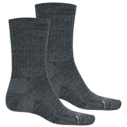Terramar Everyday Merino Crew Socks - 2-Pack, Merino Wool (For Men) in Grey Heather - Closeouts