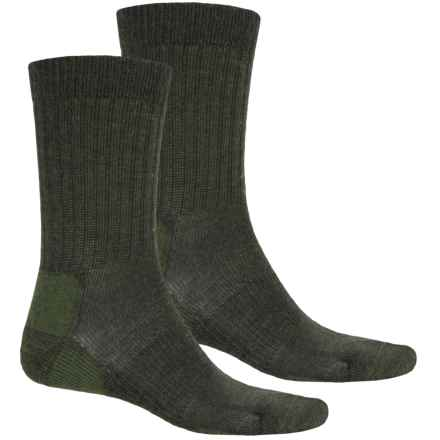 Terramar Everyday Merino Crew Socks - 2-Pack, Merino Wool (For Men) in Loden - Closeouts