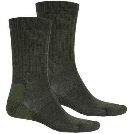 Terramar Everyday Merino Crew Socks - 2-Pack, Merino Wool (For Men) in Loden - Closeouts