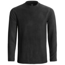 Terramar Fleece Base Layer Crew Top - Long Sleeve (For Men) in Black - Closeouts