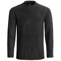 Terramar Fleece Base Layer Crew Top - Long Sleeve (For Men) in Black
