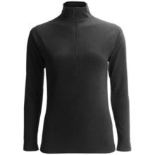 Terramar Fleece Pullover Shirt - Zip Neck, Long Sleeve (For Women) in Black - Closeouts