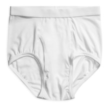 Terramar Four-Way Stretch Underwear Briefs (For Men) in White - Closeouts
