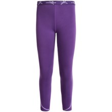 Terramar Genesis 3.0 Fleece Base Layer Bottoms - UPF 50+ (For Little and Big Kids) in Purple Rain - Closeouts
