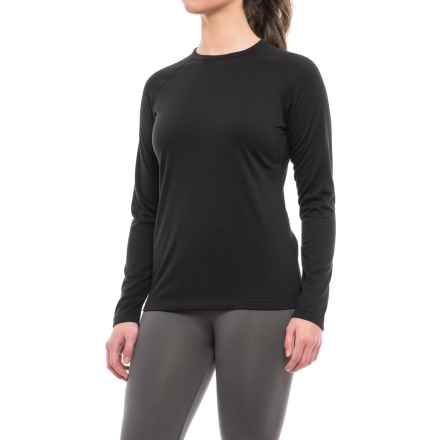Terramar Genesis 3.0 Fleece Base Layer Top - UPF 50+, Crew Neck, Long Sleeve (For Women) in Black - Closeouts