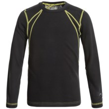 Terramar Genesis 3.0 Fleece Base Layer Top - UPF 50+, Long Sleeve (For Little and Big Kids) in Black - Closeouts