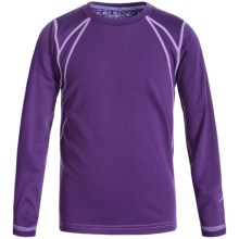 Terramar Genesis 3.0 Fleece Base Layer Top - UPF 50+, Long Sleeve (For Little and Big Kids) in Purple Rain - Closeouts