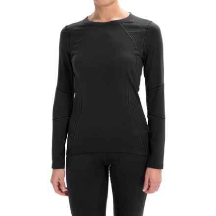 Terramar Genesis Fleece Base Layer Top - UPF 50+, Long Sleeve (For Women) in Black - Closeouts