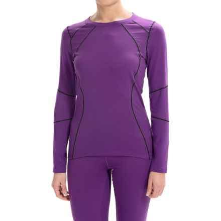 Terramar Genesis Fleece Base Layer Top - UPF 50+, Long Sleeve (For Women) in Purple Rain - Closeouts